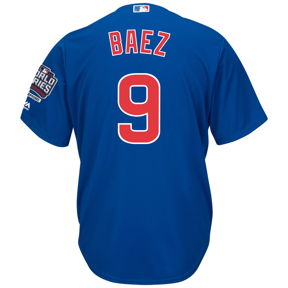 マジェスティック Majestic メンズ トップス【Chicago Cubs Adult Javier Baez World Series Champions Cool Base Jersey】Royal