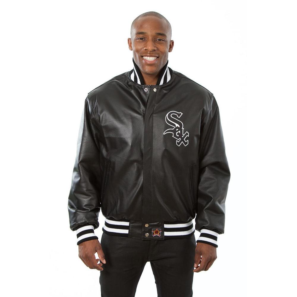 JH デザイン JH Design メンズ アウター レザージャケット【Chicago White Sox Adult Leather Jacket】Black