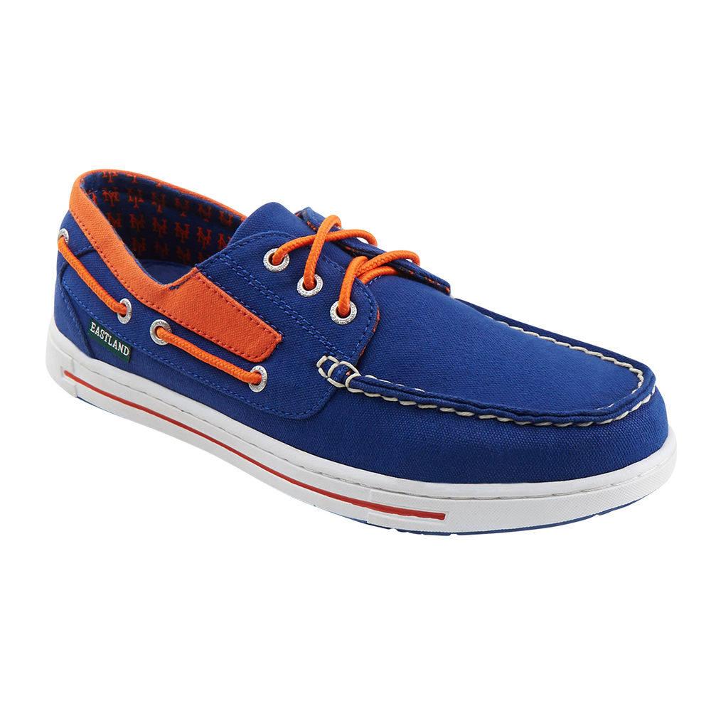 イーストランド Eastland メンズ シューズ・靴 デッキシューズ【Adventure New York Mets Boat Shoe】Blue