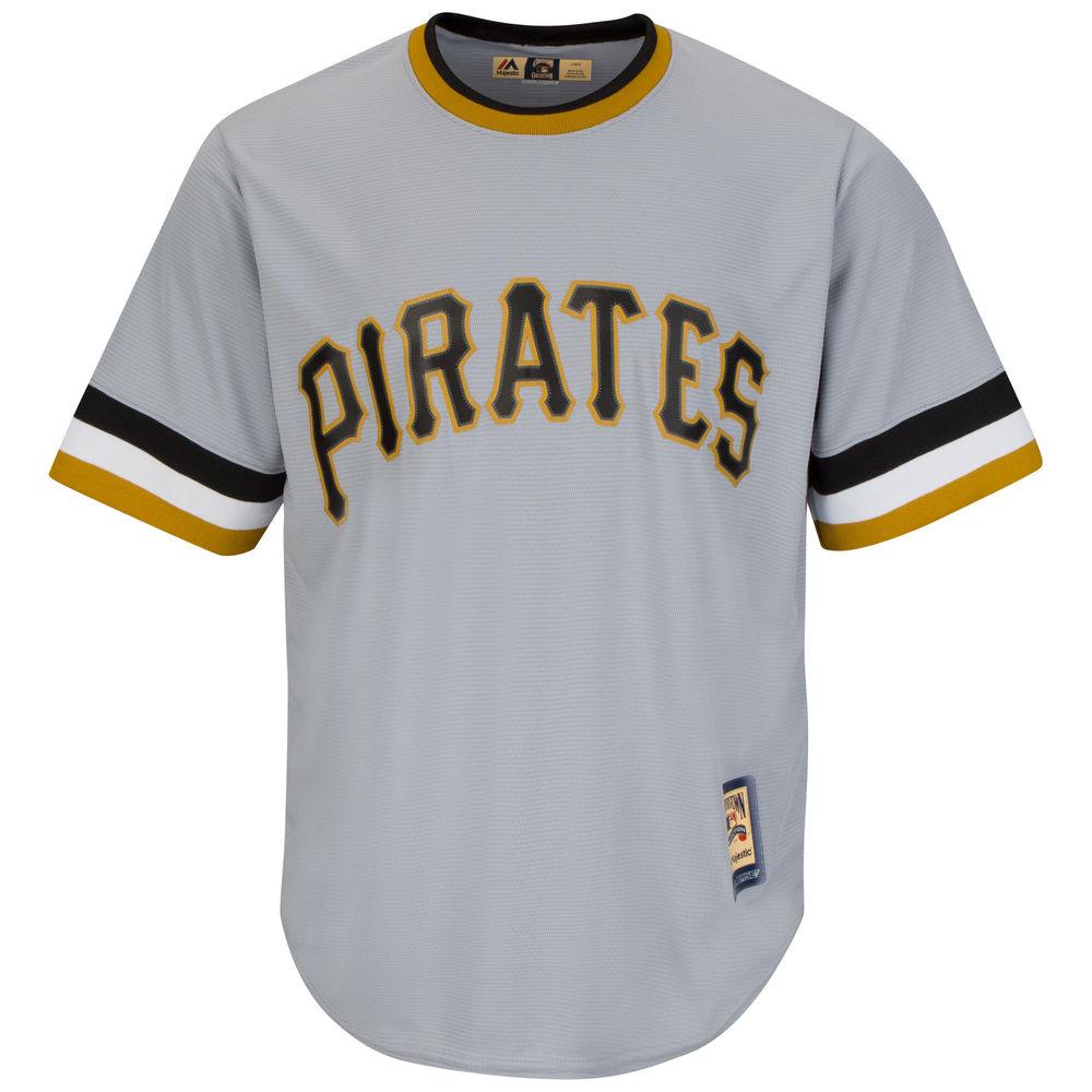 マジェスティック Majestic メンズ トップス【Pittsburgh Pirates Adult Cool Base Replica Jersey】Grey