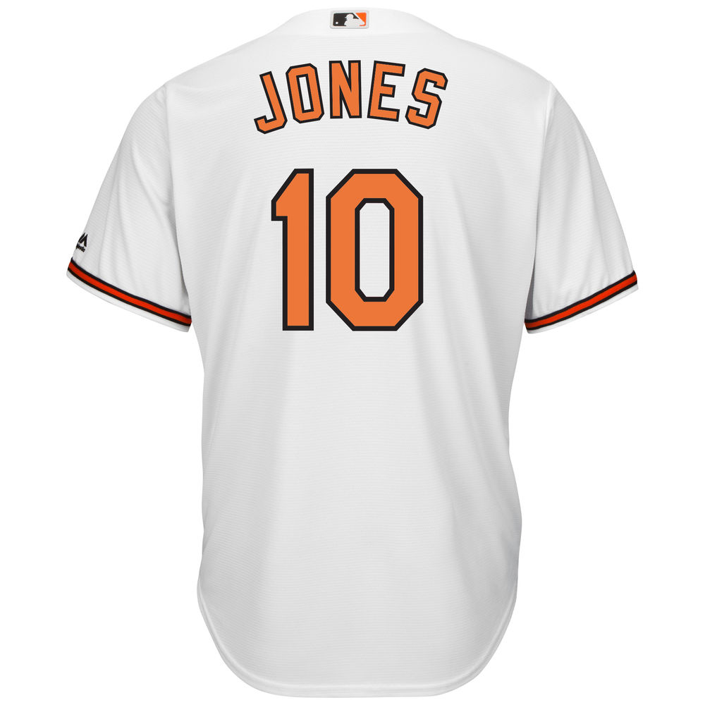 マジェスティック Majestic メンズ トップス【Baltimore Orioles Adam Jones Adult Cool Base Replica Jersey】White