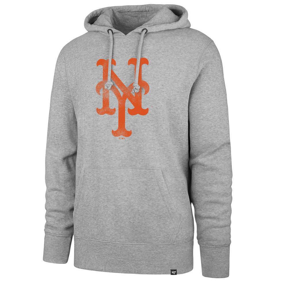 47ブランド 47 Brand メンズ トップス パーカー【New York Mets Adult Hoodie】Grey