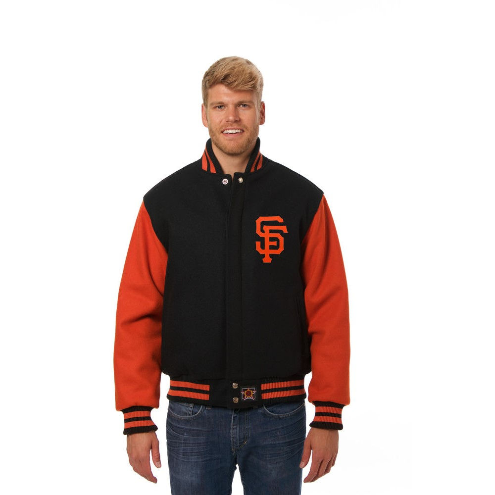 JH デザイン JH Design メンズ アウター ジャケット【San Francisco Giants Adult Wool Jacket】Black/Orange