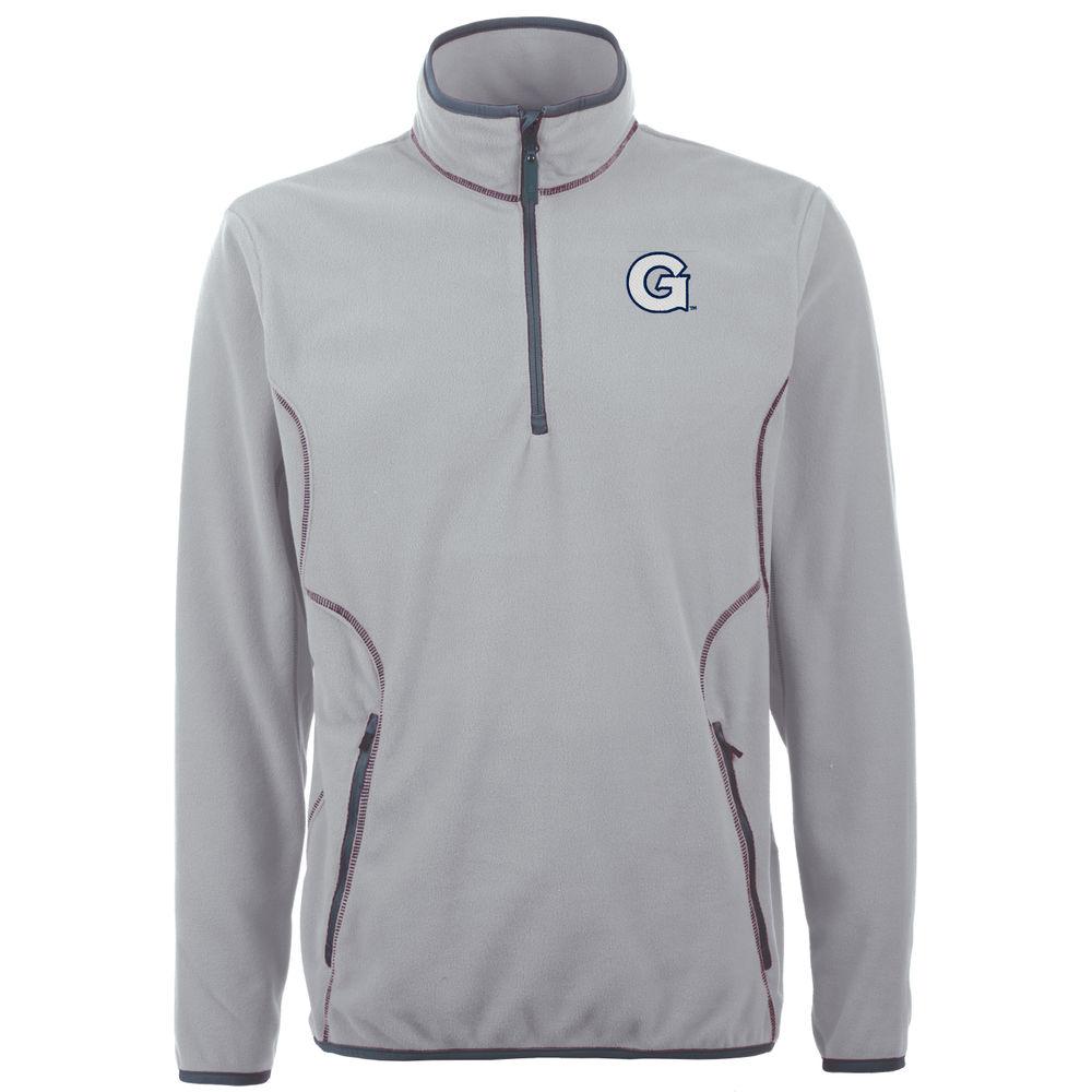 アンティグア Antigua メンズ トップス フリース【Georgetown Hoyas Ice Quarter Zip Polar Fleece】Silver