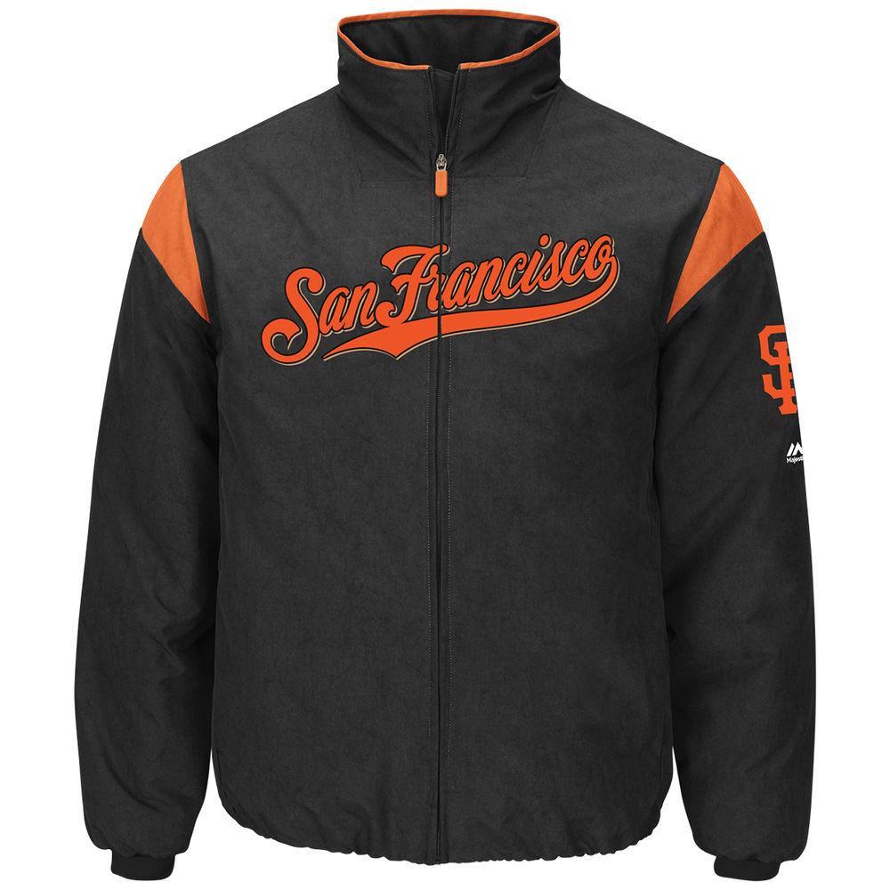 マジェスティック Majestic メンズ アウター ジャケット【San Francisco Giants Adult Authentic Collection On-Field Therma Base Thermal Full-Zip Jacket】Black