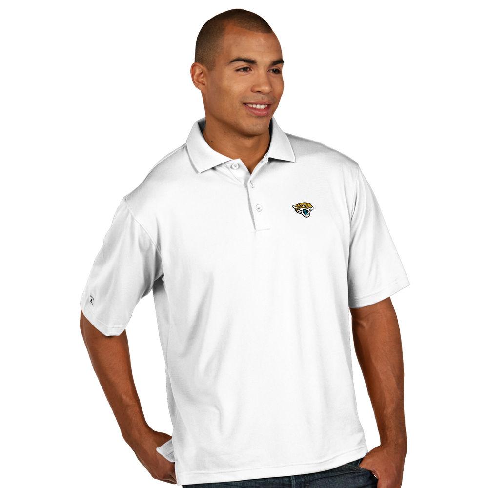 アンティグア Antigua メンズ トップス ポロシャツ【Jacksonville Jaguars Pique Short Sleeve Polo】White