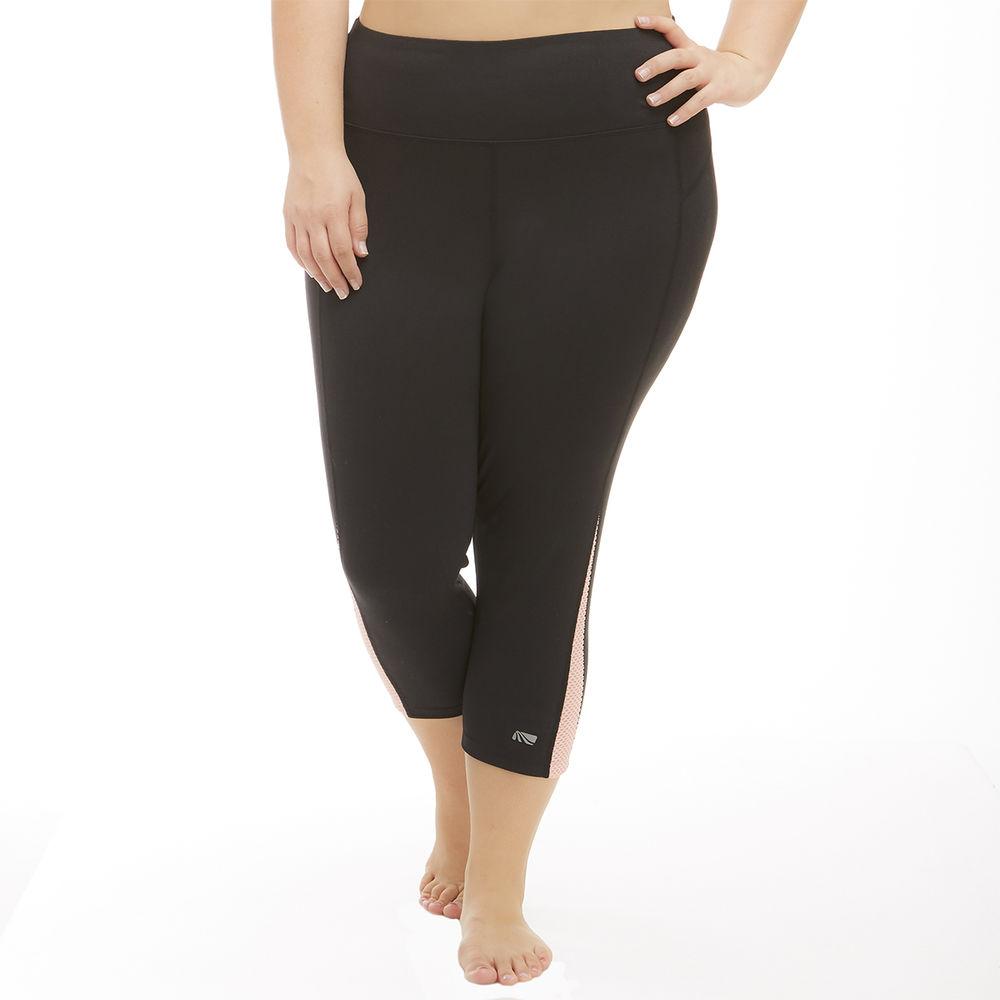 マリカ Marika Curves レディース フィットネス・トレーニング ボトムス・パンツ【Slimming High Rise Plus Size Capri】Grey