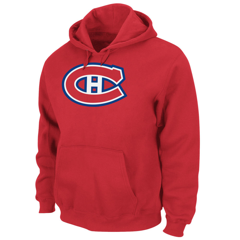マジェスティック Majestic メンズ トップス フリース【Montreal Canadians Adult Hooded Fleece Pullover】Red