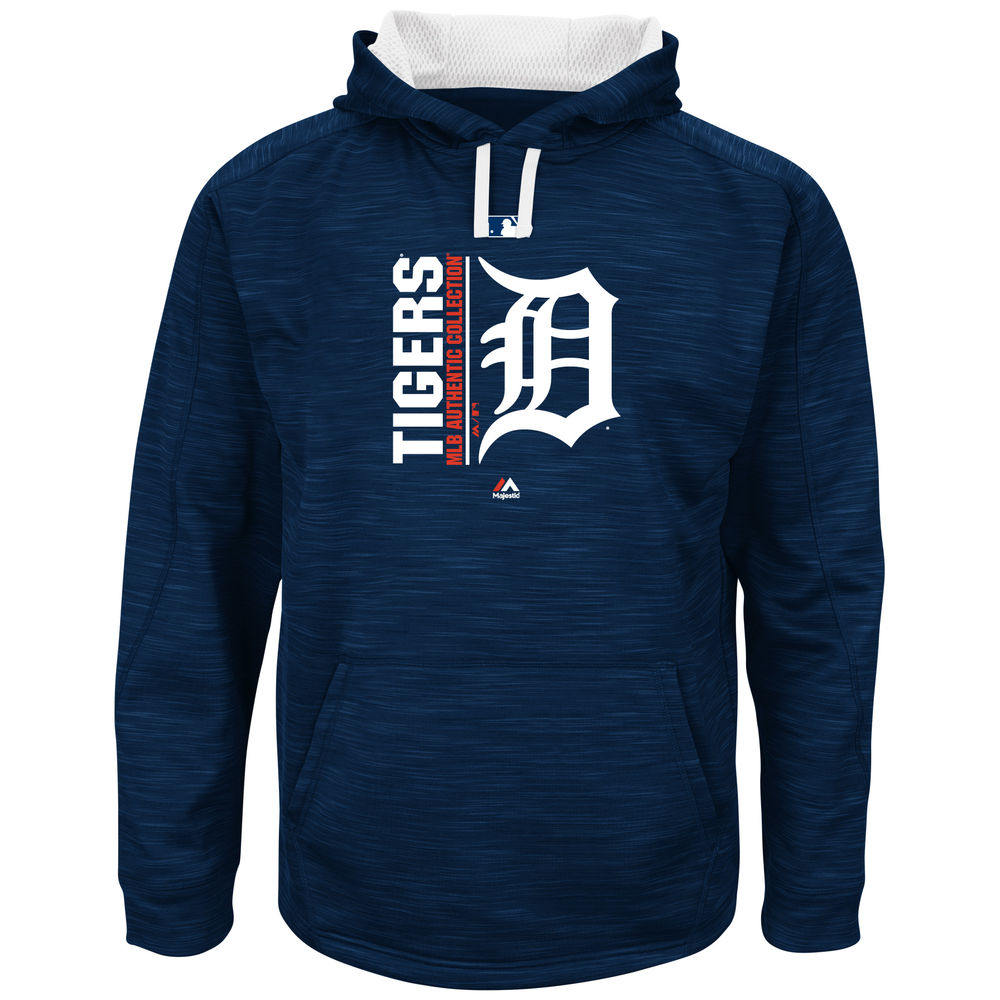 マジェスティック Majestic メンズ トップス フリース【Detroit Tigers Big Authentic Collection Icon Streak Fleece Hoodie (Big & Tall)】Navy