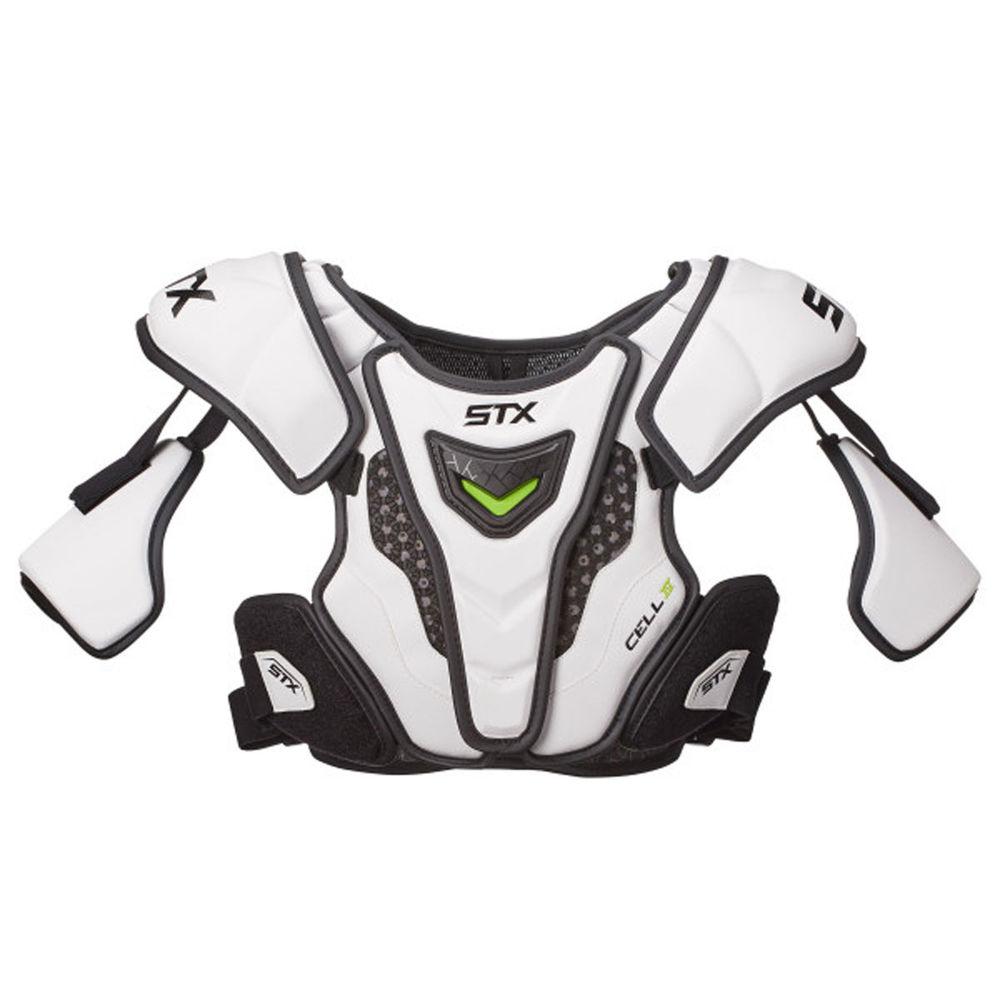 エスティーエックス STX ユニセックス ラクロス プロテクター【Cell 4 Lacrosse Shoulder Pads Size Medium】White