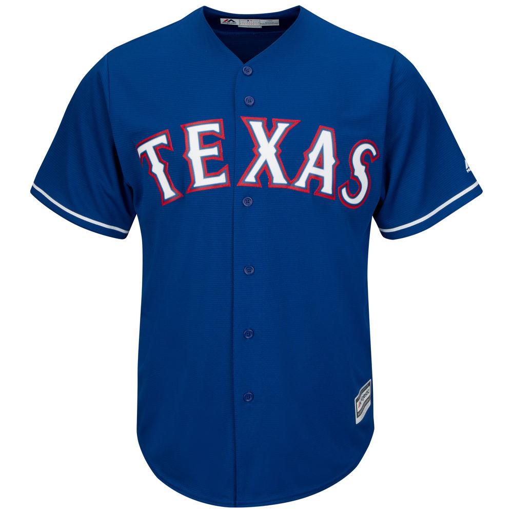 マジェスティック Majestic メンズ トップス【Texas Rangers Big Cool Base Jersey (Big & Tall)】White