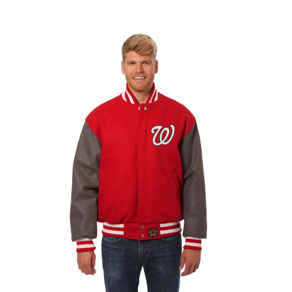 JH デザイン JH Design メンズ アウター ジャケット【Washington Nationals Adult Wool Jacket】Red/Grey