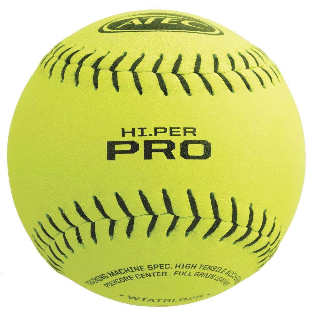 エイテック Atec ユニセックス 野球 ボール【Hi Per Pro Leather Flat Seam Softballl】