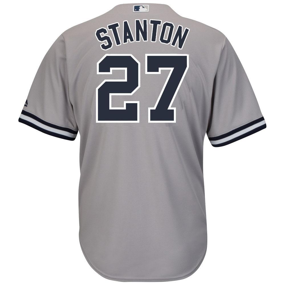 マジェスティック Majestic メンズ トップス【New York Yankees Adult Giancarlo Stanton Cool Base Jersey (Big & Tall)】Grey