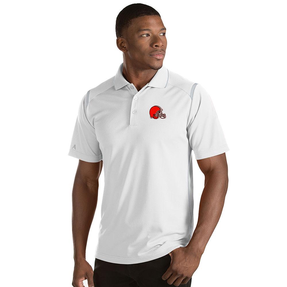 アンティグア Antigua メンズ トップス ポロシャツ【Cleveland Browns Adult Merit Polo】White