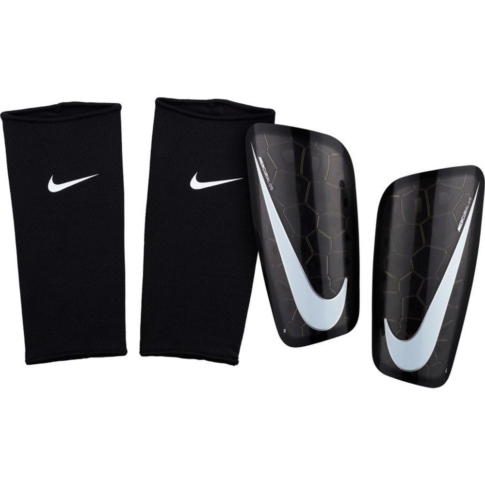 ナイキ Nike ユニセックス サッカー プロテクター【Mercurial Lite Soccer Shin Guards】黒/白い
