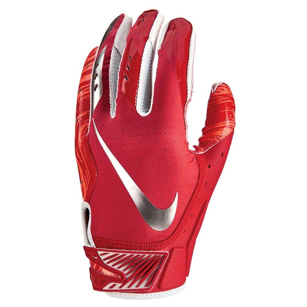 ナイキ Nike ユニセックス アメリカンフットボール グローブ【Vapor Jet Adult Football Glove】Red