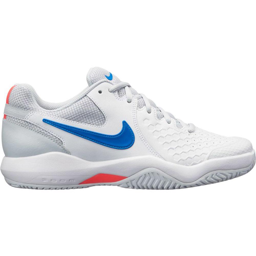 ナイキ Nike レディース テニス シューズ・靴【Air Zoom Resistance Tennis Shoe】White/Blue