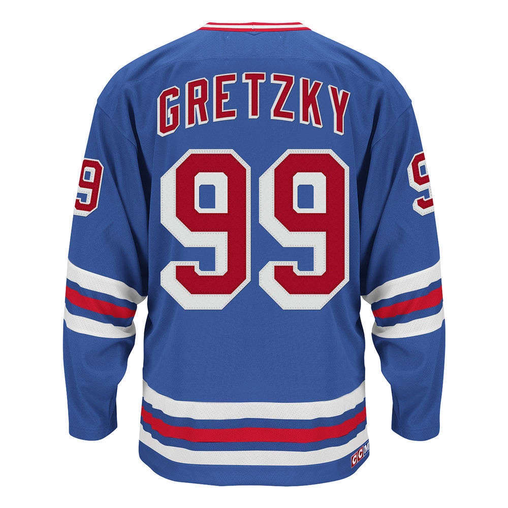 CCM メンズ トップス【New York Rangers Adult Wayne Gretzky Authentic Heroes of Hockey Jersey】Royal