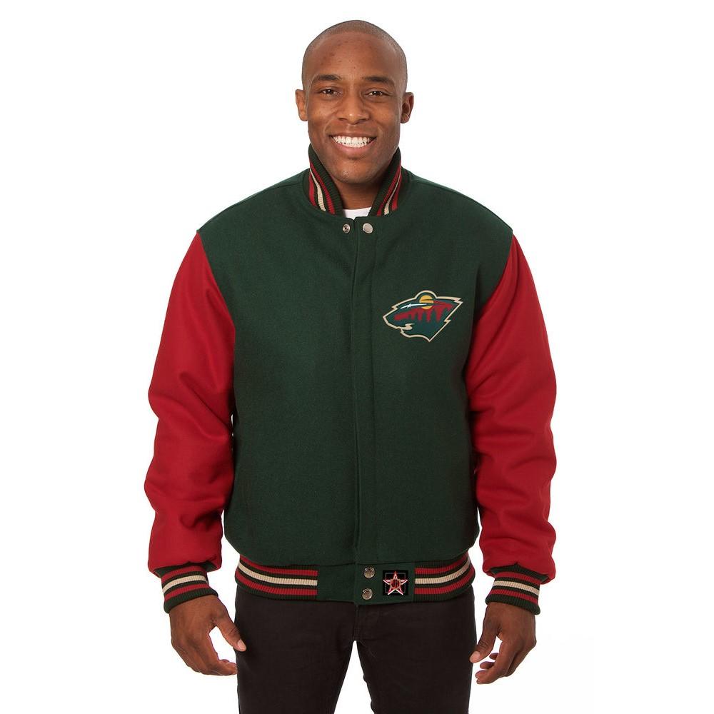 JH デザイン JH Design メンズ アウター ジャケット【Minnesota Wild Adult Wool Jacket】Green/Red