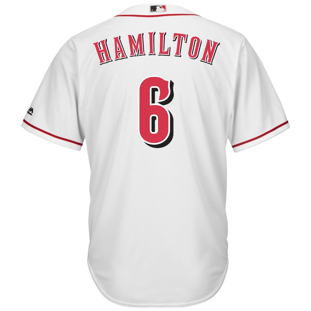 マジェスティック Majestic メンズ トップス【Cincinnati Reds Billy Hamilton Adult Cool Base Replica Jersey】White