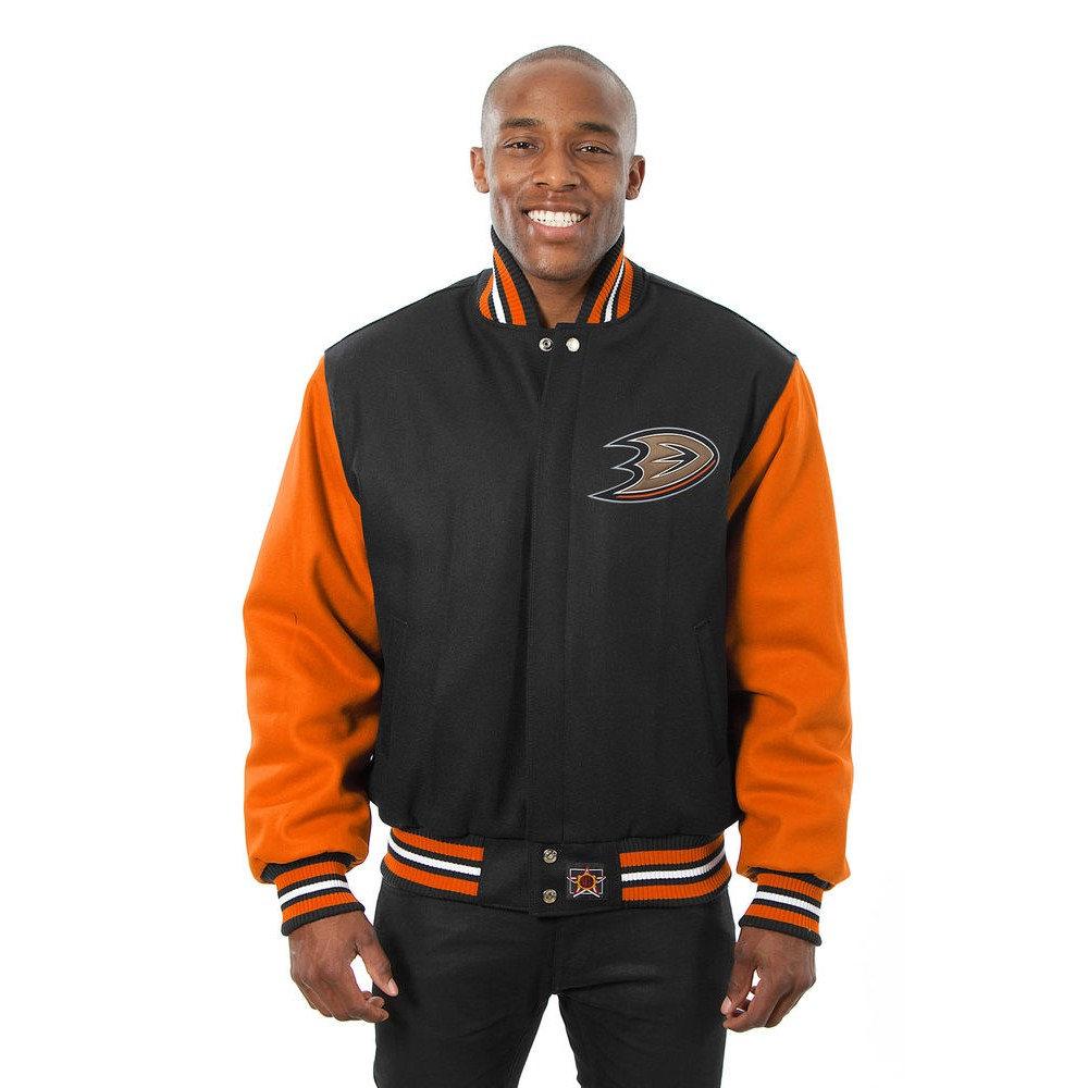 JH デザイン JH Design メンズ アウター ジャケット【Anaheim Ducks Adult Wool Jacket】Black/Orange