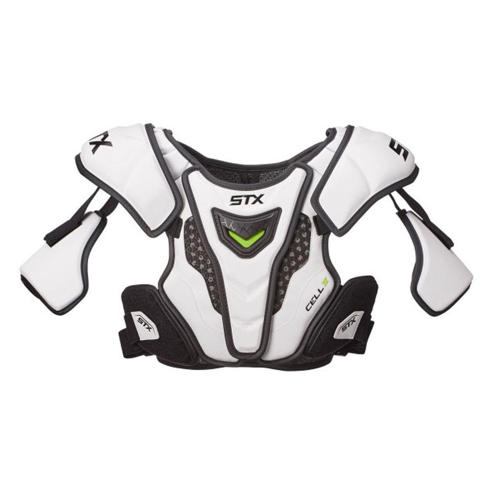 エスティーエックス STX ユニセックス ラクロス プロテクター【Cell 4 Lacrosse Shoulder Pads Size Small】White