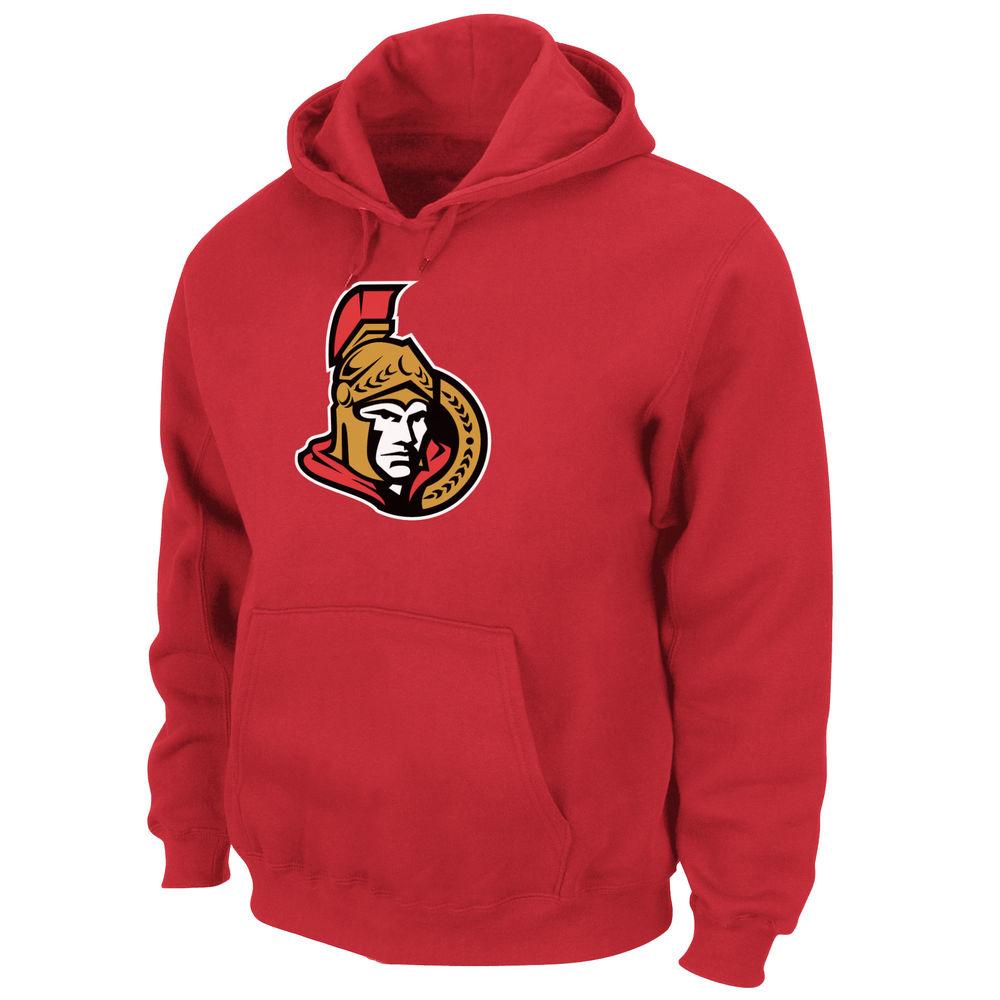 マジェスティック Majestic メンズ トップス フリース【Ottawa Senators Adult Hooded Fleece Pullover】Red