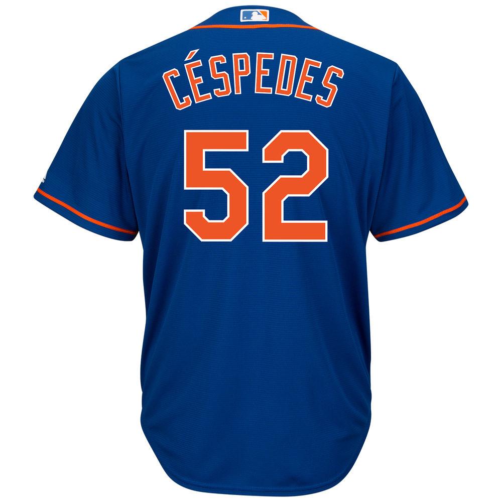 マジェスティック Majestic メンズ トップス【New York Mets Adult Yoenis Cespedes Cool Base Jersey】Blue