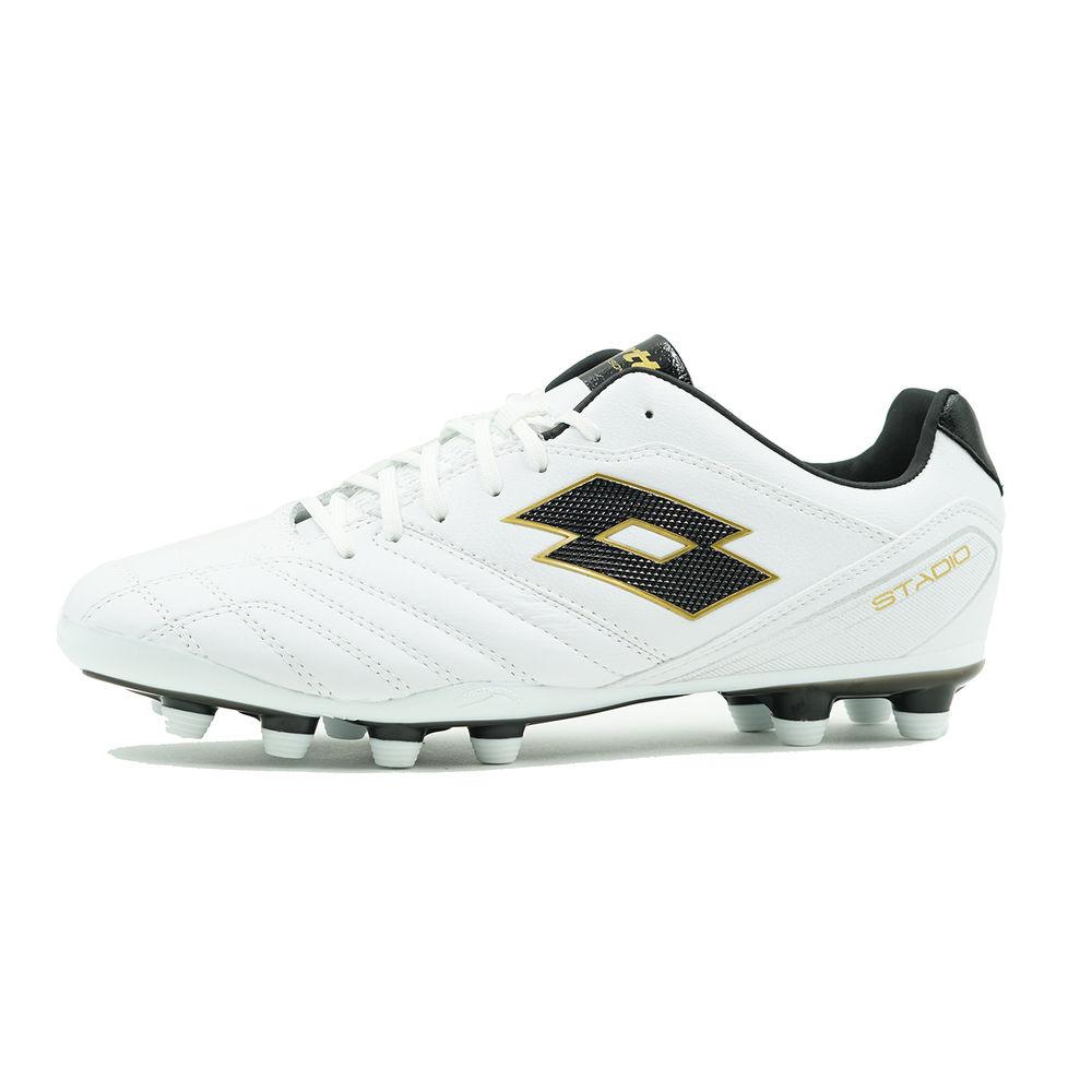 ロット Lotto メンズ サッカー シューズ・靴【Stadio 300 FG Soccer Cleat】White/Gold
