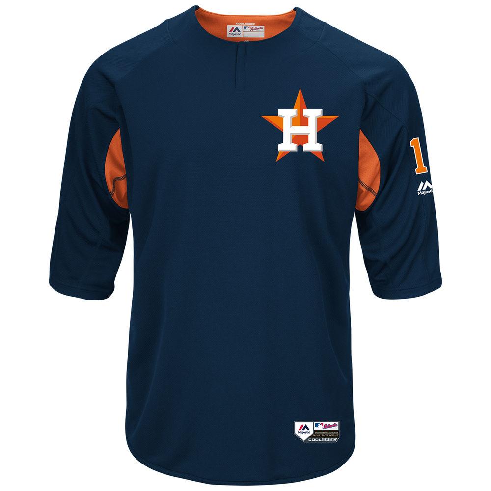 マジェスティック Majestic メンズ トップス【Houston Astros Adult Carlos Correa Authentic Collection On-Field 3/4-Sleeve Batting Practice Jersey】Navy
