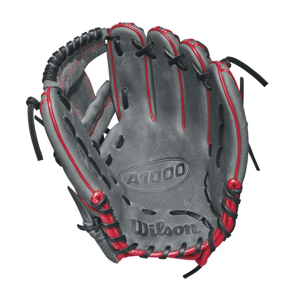 ウィルソン Wilson ユニセックス 野球 グローブ【2018 A1000 11.5 Inch Right Hand Throw Baseball Glove】Grey/Red