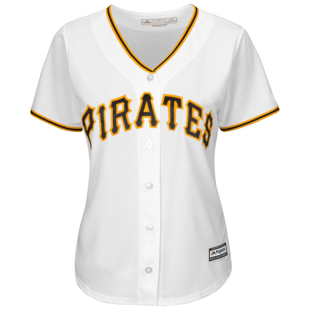 マジェスティック Majestic レディース トップス【Pittsburgh Pirates Cool Base Replica Jersey】White