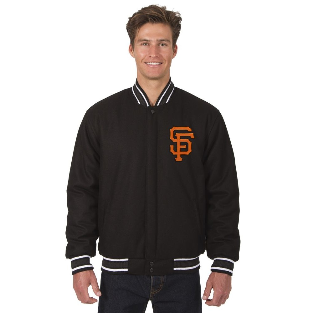 JH デザイン JH Design メンズ アウター ジャケット【San Francisco Giants Adult All Wool Reversible Jacket】Black