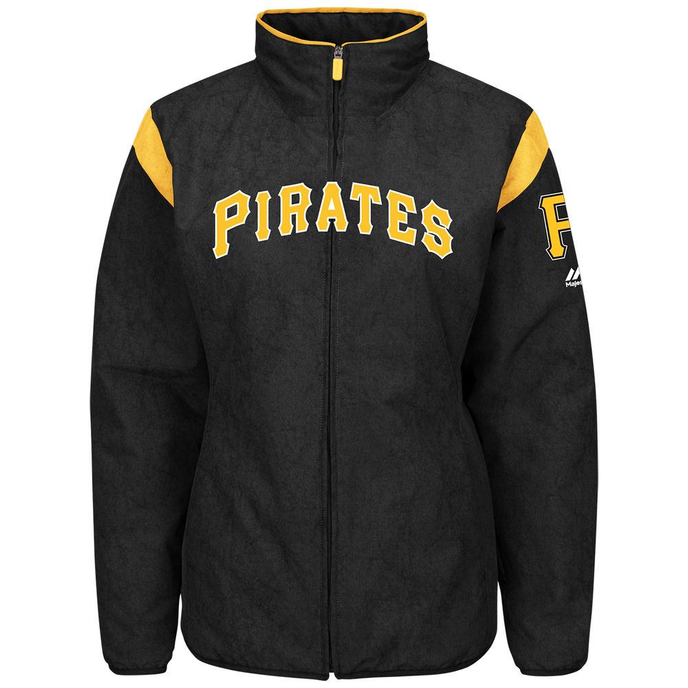 マジェスティック Majestic レディース アウター ジャケット【Pittsburgh Pirates Authentic Collection On-Field Thermal Jacket】Black