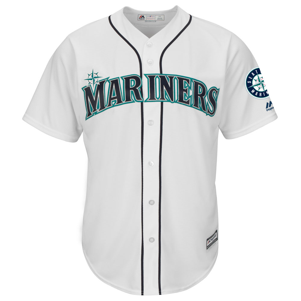 マジェスティック Majestic メンズ トップス【Seattle Mariners Big Cool Base Jersey (Big & Tall)】White