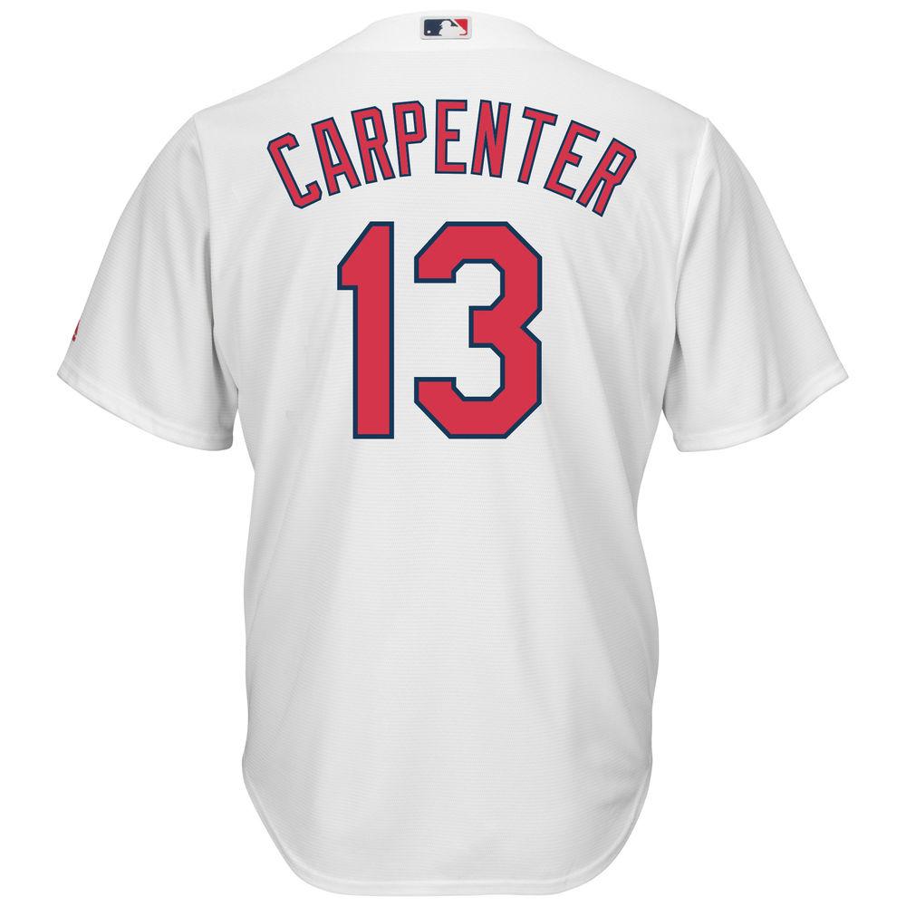 マジェスティック Majestic メンズ トップス【St. Louis Cardinals Matt Carpenter Adult Cool Base Replica Jersey】White