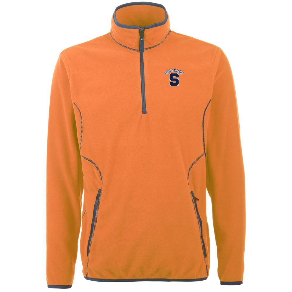 アンティグア Antigua メンズ トップス フリース【Syracuse Orange Ice Quarter Zip Polar Fleece】Mango
