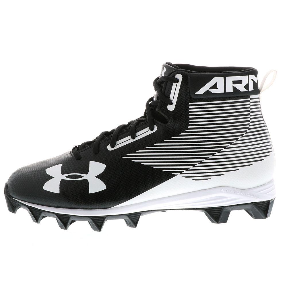 アンダーアーマー Under Armour メンズ アメリカンフットボール シューズ・靴【Hammer Mid RM (Wide Width) Football Cleat】Black/White