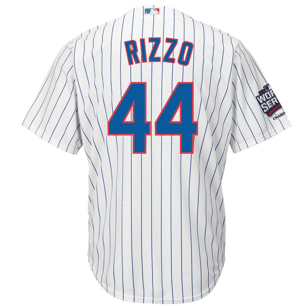 マジェスティック Majestic メンズ トップス【Chicago Cubs Adult Anthony Rizzo World Series Champions Cool Base Jersey】White