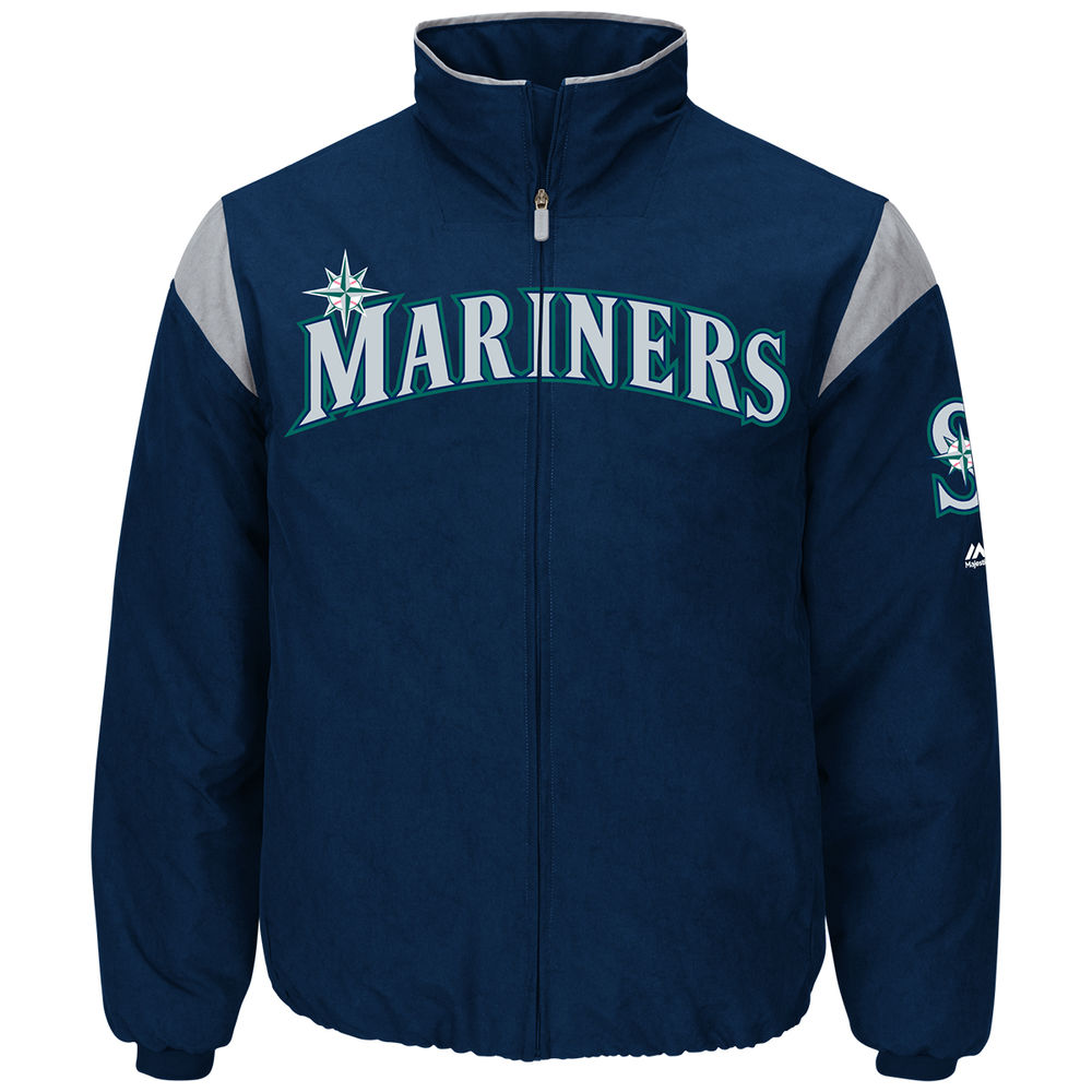 マジェスティック Majestic メンズ アウター ジャケット【Seattle Mariners Adult Authentic Collection On-Field Therma Base Thermal Full-Zip Jacket】Navy