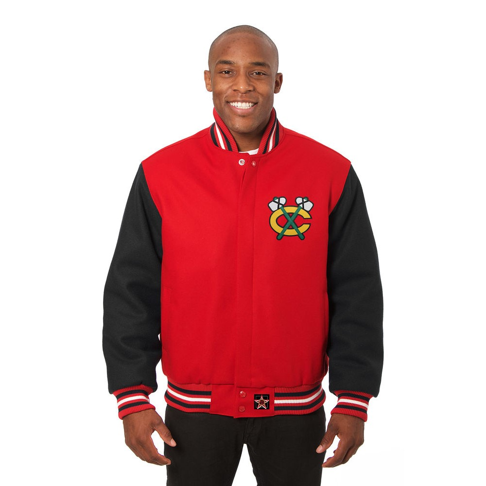 JH デザイン JH Design メンズ アウター ジャケット【Chicago Blackhawks Adult Wool Jacket】Red/Black