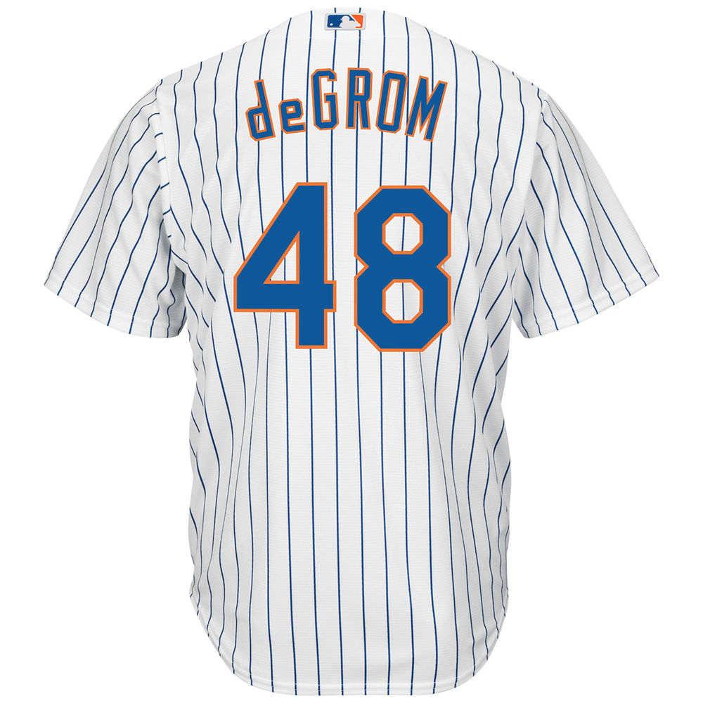 マジェスティック Majestic メンズ トップス【New York Mets Adult Jacob deGrom Adult Cool Base Jersey】White
