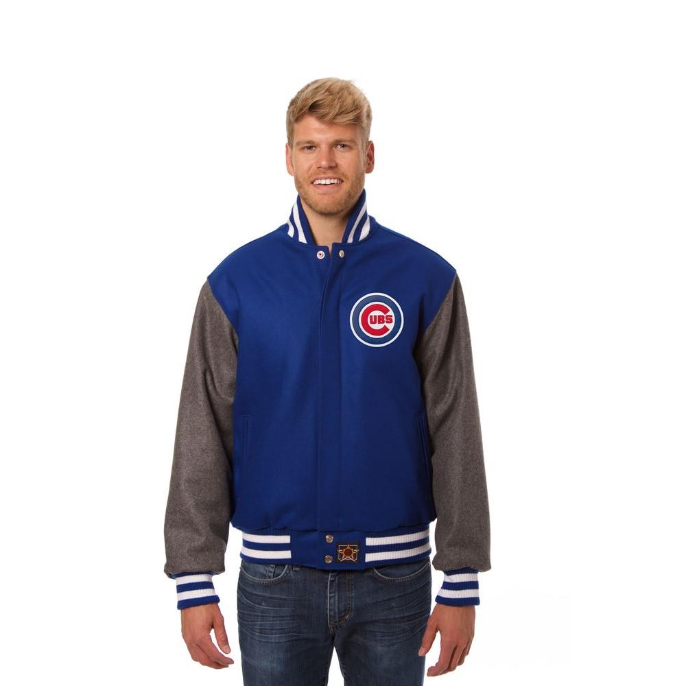 JH デザイン JH Design メンズ アウター ジャケット【Chicago Cubs Adult Wool Jacket】Blue/Grey
