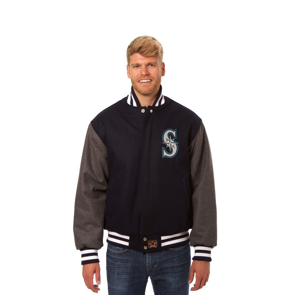 JH デザイン JH Design メンズ アウター ジャケット【Seattle Mariners Adult Wool Jacket】Blue/Grey