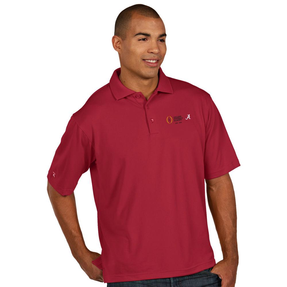 アンティグア Antigua メンズ トップス ポロシャツ【Alabam Crimson Tide Cotton Bowl Pique Xtra-Lite Polo】Cardinal