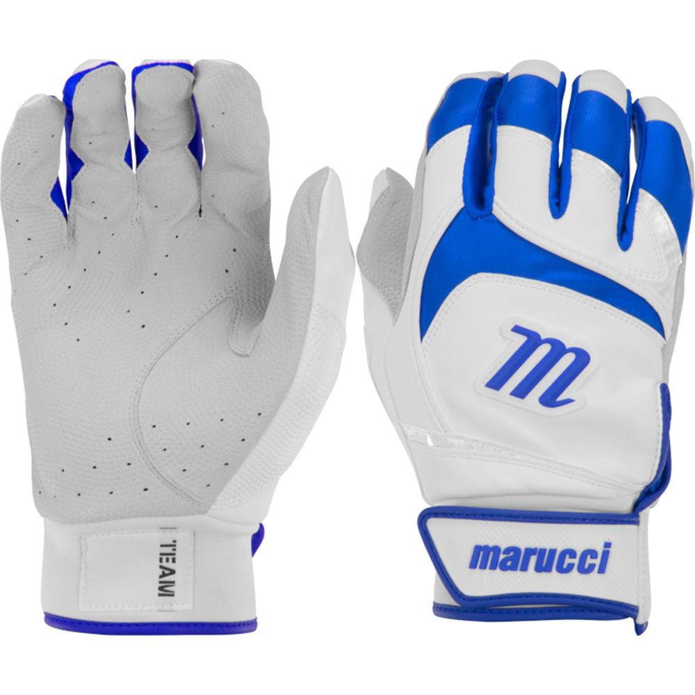 マルッチ Marucci ユニセックス 野球 グローブ【Adult Signature Series Baseball Batting Gloves】White/Blue/Grey