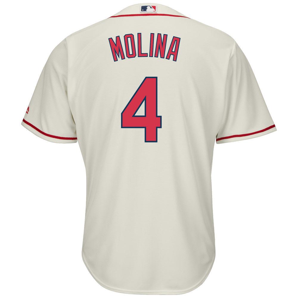 マジェスティック Majestic メンズ トップス【St. Louis Cardinals Yadier Molina Adult Cool Base Replica Jersey】Ivory