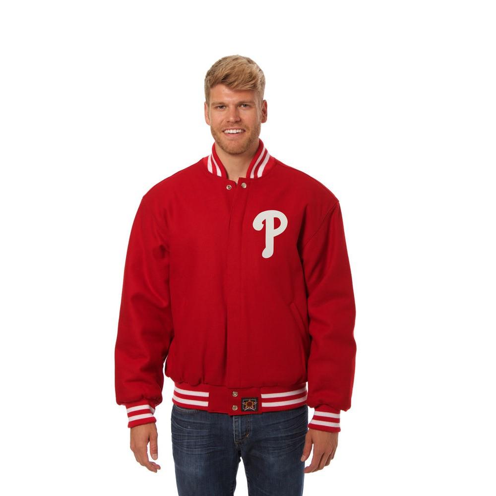 JH デザイン JH Design メンズ アウター ジャケット【Philadelphia Phillies Adult Wool Jacket】Red