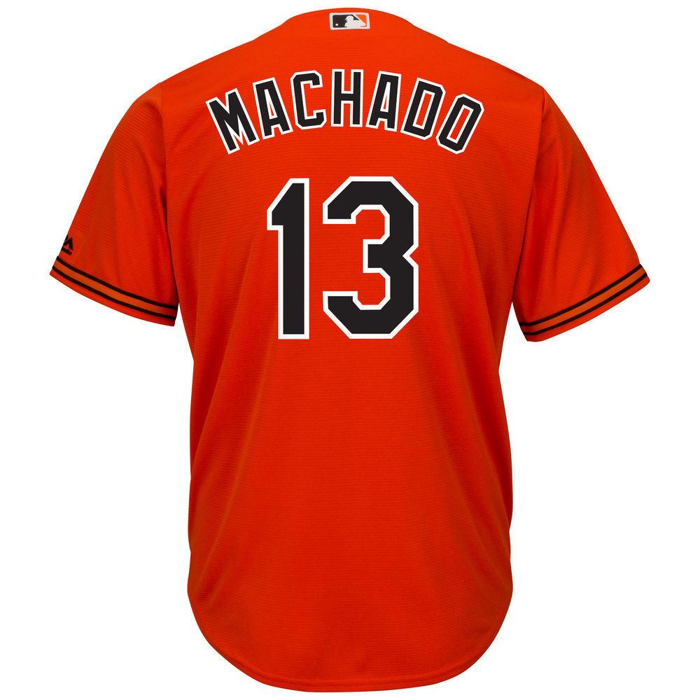 マジェスティック Majestic メンズ トップス【Baltimore Orioles Manny Machado Adult Cool Base Replica Jersey】Orange